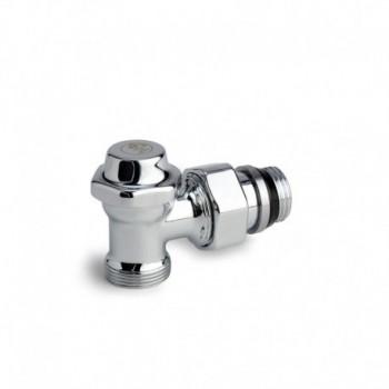 T29C Detentore per termoarredo, a squadra, in ottone, cromato lucido, con attacco per adattatore tubo rame, plastica o multistrato GIMT29CX003