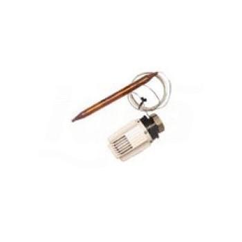 Attuatore termostatico, con sonda a capillare e regolazione a punto fisso per valvola miscelatrice\na 3 vie per unità di circ...