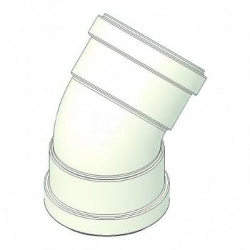 Curva alluminio 45° ff d=80 con guarnizione a norma CE TCG00000051046