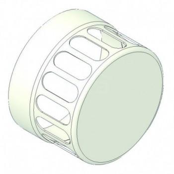 Griglia aspirazione alluminio bianco d=100 TCG0000051006C