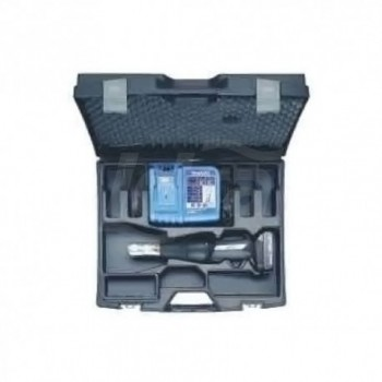 Macchina idraulica pressfitting 18V. Completa di ganascia universale, carica batteria, valigetta. Pressatura da Ø 16 a 32 COEF07KA0K4BN