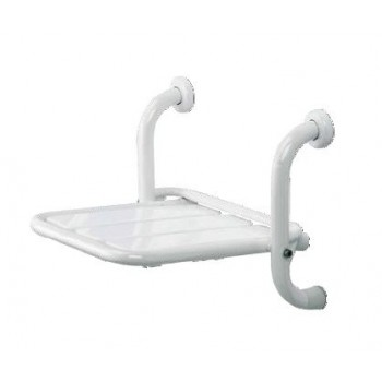 Sedile ribaltabile per doccia realizzato in tubo di acciaio inox verniciato a polveri poliuretaniche termoindurenti binco THESRD-I-B