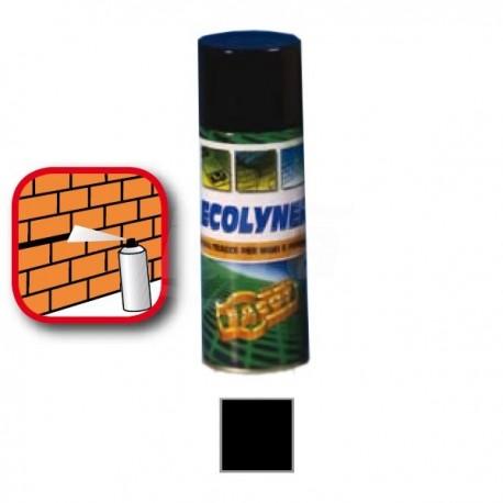 ECOLYNERVernice spray a rapida essiccazione per tracciatura su muri e pavimenti. Bombola spray 400 ml, colore nero FACECOLYNE400E