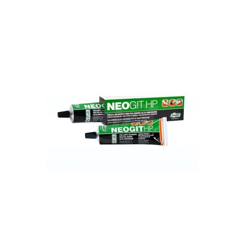 NEOGIT Colla speciale saldante per incollare tubi, componenti in PVC rigido che operano anche in pressione o tubazioni di scarico in ABS/ASA. Tubetto 125gr FACNEO0125