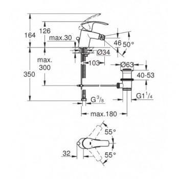 EUROSMART NEW 32929 Miscelatore monocomando per bidet Taglia S GRO32929002
