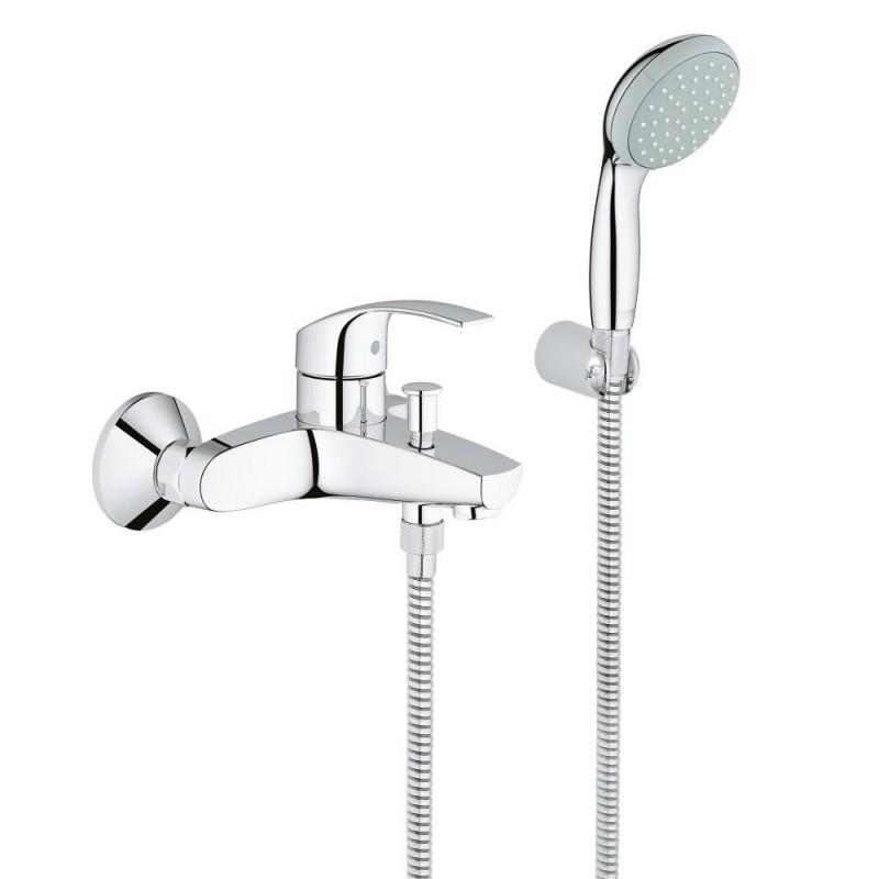 EUROSMART NEW 33302 rubinetto per vasca con set doccia per bagno e doccia 33302002 - Gruppi per vasche