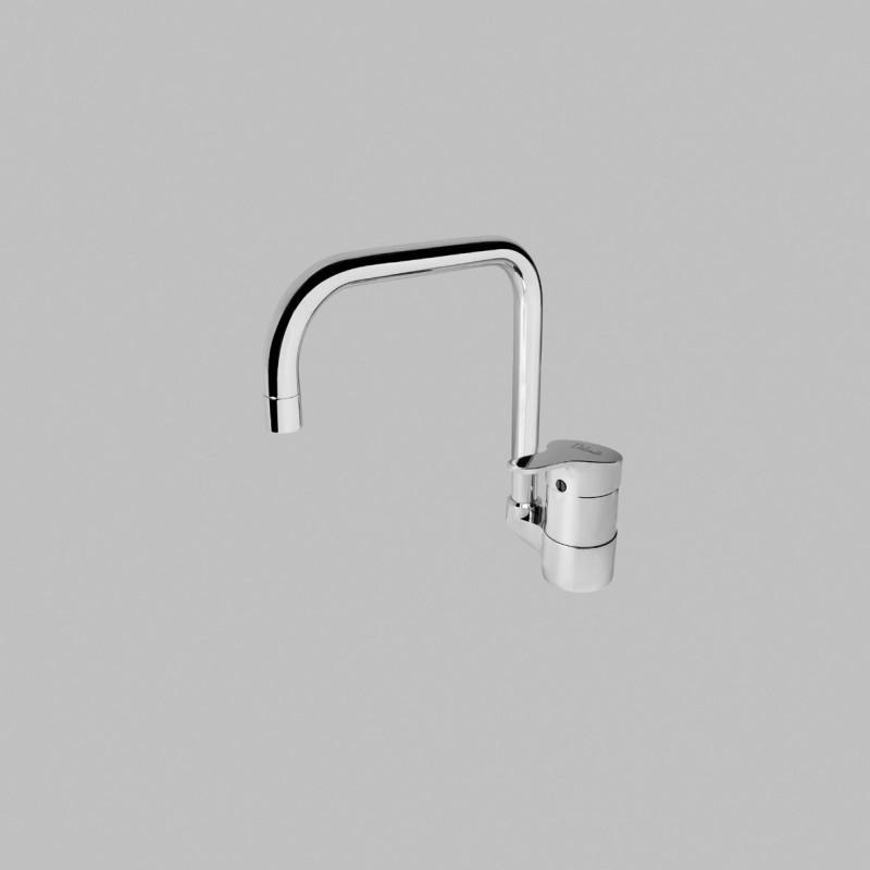 Base NEW Miscelatore rubinetto monocomando lavello H.18,2 CR B8606AA - Per lavelli
