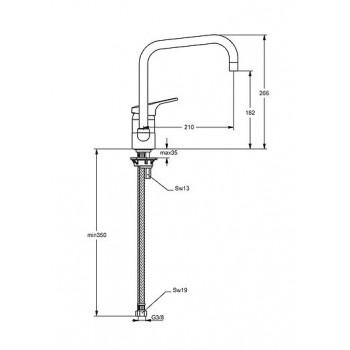Base NEW miscelatore monocomando lavello H.18,2 CR IDSB8606AA