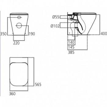 TONIC II wc BTW universale +Aquablade + sedile slim bianco europa IDSK317201