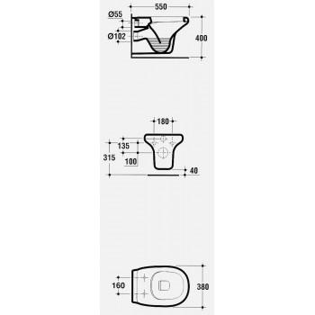TESI CLASSIC vaso sospeso N.T. bianco europa R343961