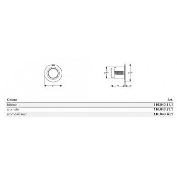 Comando pneumatico incasso TIPO01 1TASTO SIGMA8 bianco 116.041.11.1 - Accessori