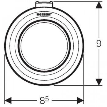 Comando pneumatico EXT. TIPO01 1TASTO SIGMA12 bianco GEB116.046.11.1
