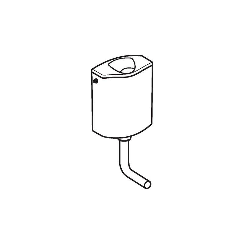 AP116 cassetta esterna +Curva risciacquo bianca 136.432.11.1 - Cassette di risciacquo