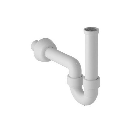 """Sifone lavabo A """"P"""" IN PP ø40x1.1/4"""" bianco GEB151.100.11.1"""