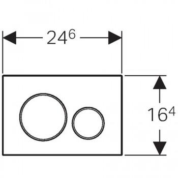 SIGMA20 placca comando 2TASTI bianco/cromato/bianco GEB115.882.KJ.1