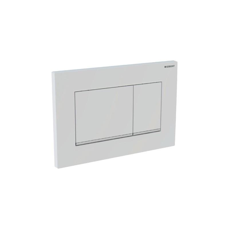SIGMA30 placca comando 2TASTI bianco/cromato/bianco GEB115.883.KJ.1