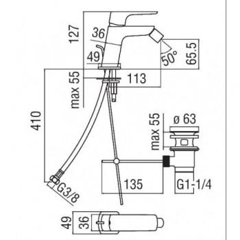 ACQUAVIVA Miscelatore rubinetto monocomando bidet cr VV103119/1CR - Per bidet