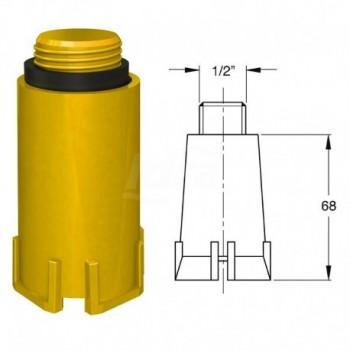 """Tappo collettore giallo per gas filetto 1/2"""" BON9888PP12B3"""