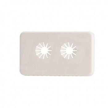 R175B Rosone in plastica per valvole monotubo e bitubo base 16 GIMR175BY001