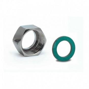 "Dado G 1/2 C/guarniz. ""KLINGERSIL C4324"" x tubo DN12 AISI304 (W-S) A02-0010-00724 - Collari/Staffe/Mensole"