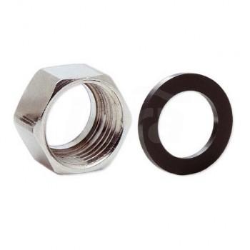 Dadi in ottone nichelato a sede speciale con filettatura femmina ISO 228 G A02-0010-01828 - Collari/Staffe/Mensole