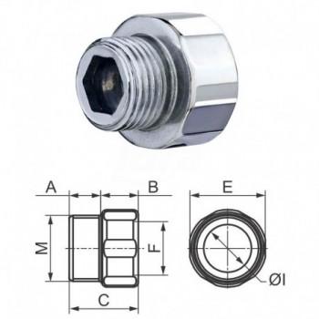 Manicotto ridotto m.F.zincato 3/4x1/2x15 0246Z0341215I