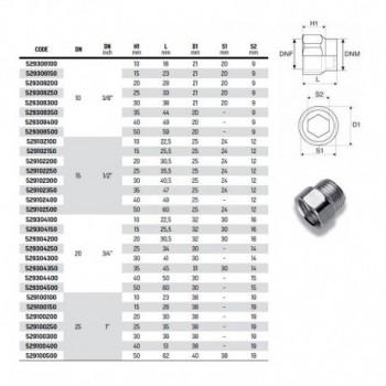 """Manicotto mf (prolunga) zincato ø3/8"""" RAC529308300"""