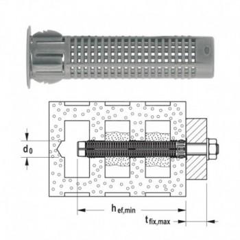 FIS H 16X85 K Tasselli a rete per installazione passante e non passante 00041902