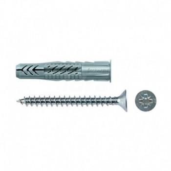 UX 8X50 R S/10 tassello in nylon con vite 00071550 - Collari/Staffe/Mensole