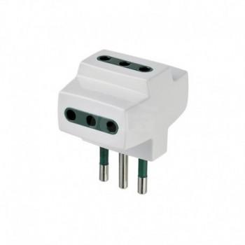 Adattatore multiplo S11+3P11 bianco DVEVIW00320.B