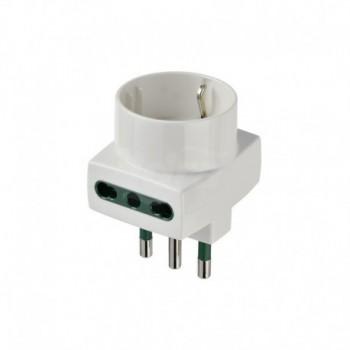 Adattatore multiplo S17+2P17/11+P30 bianco DVEVIW00323.B