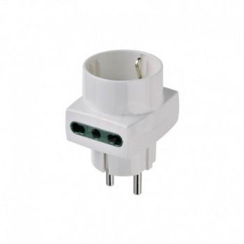 Adattatore multiplo S31+2P17/11+P30 bianco DVEVIW00325.B