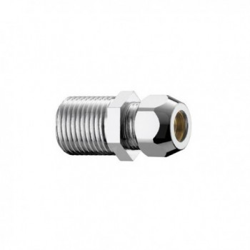 "320/2c nipple ottone cromato m/m ø3/8""x20 con dado ø10 PIA0320B330CR"