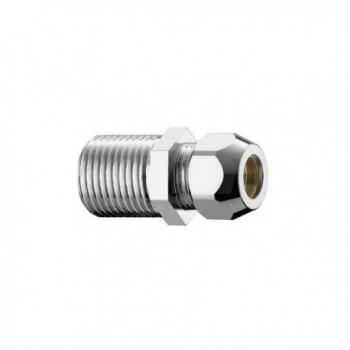 "320/5c nipple ottone cromato m/m ø1/2""x20 con dado ø12 PIA0320B442CR"