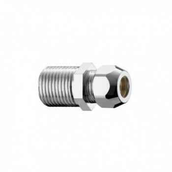 "320/6c nipple ottone cromato m/m ø1/2""x20 con dado ø14 PIA0320B444CR"