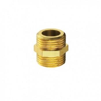 """39/3 nipple ottone cromato m/m ø3/8""""x3/8"""" 00390300CR"""