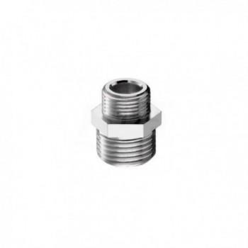 "39/4 nipple ottone cromato m/m ø3/8""x1/2"" 0039R340CR - In ottone filettati"