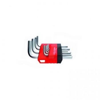 LT/9 - Set chiavi a brugola esagonale a L a braccio corto, 9 pezzi UNF0701 160 001 01