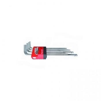 LT/900 - Set chiavi a brugola esagonale a L a braccio lungo, 9 pezzi UNF0701 160 002 01