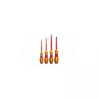 G99-401 - Set cacciaviti isolati a intaglio / Phillips C-PLUS da 4 pezzi (omologati VDE) (3 taglio, 1 stella) UNF0701 800 001 01