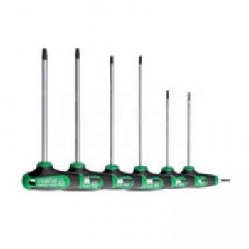 K99/12/06 - Set chiavi TX impugnatura a T C-PLUS estremità a 2 vie, 6 pezzi UNF0701 100 002 01