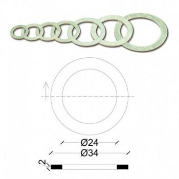 "Guarnizioni per Bocchettoni 1/2"" esenti amianto SPS. mm.2 TIR102200AV1/2"""