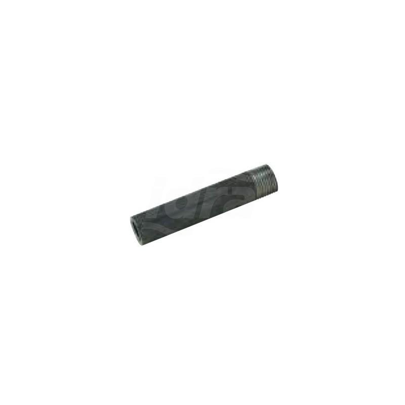 Tronchetto ø2.1/2 l.100 nero B600A100 - In acciaio nero filettati