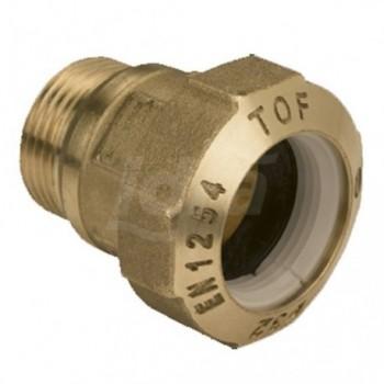 """Tof/m raccordo diritto m. ottone ø20x1/2""""m x pe EFF01010004P"""