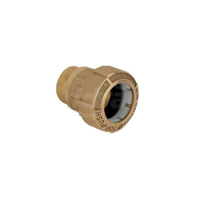 """Tof/m raccordo diritto m. ottone ø63x2""""m x pe 01010009P - Meccanici per tubi PED/PEHD"""