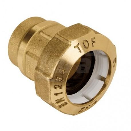 """Tof/f raccordo diritto f. ottone ø32x1""""f x pe 01020006P - Meccanici per tubi PED/PEHD"""