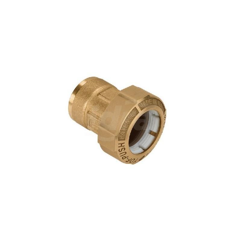 """Tof/f raccordo diritto f. ottone ø40x1.1/4""""f x pe 01020007P - Meccanici per tubi PED/PEHD"""
