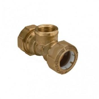 "Tof/t gas raccordo tee f. ø20x1/2""fx20 x pe 01040004P - Meccanici per tubi PED/PEHD"