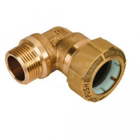 """Tof/g m raccordo gomito m. ottone ø50x1.1/2""""m x pe 01060008P - Meccanici per tubi PED/PEHD"""