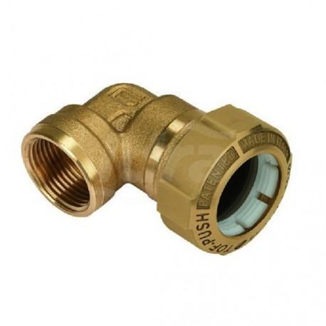 """Tof/g f gomito 90° f. ottone ø20x1/2""""f x pe 01070004P - Meccanici per tubi PED/PEHD"""